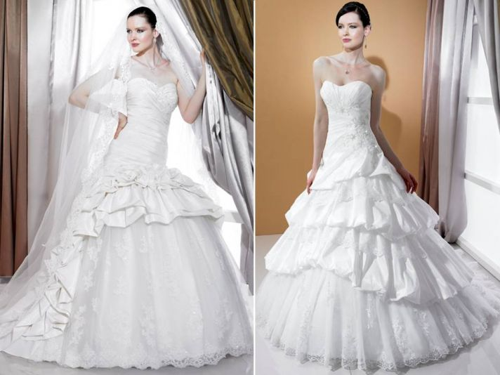 Regal tulle and satin 2011 ball gown wedding dresses by Stephanie Couture