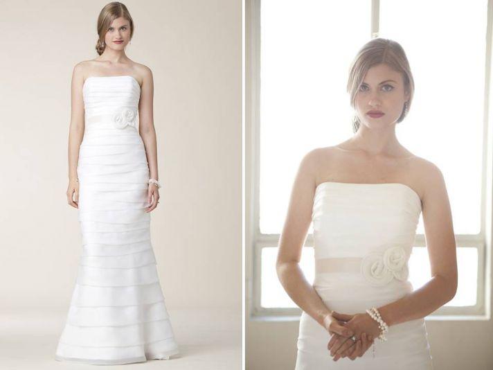 Classic and romantic 2011 modified mermaid wedding dress