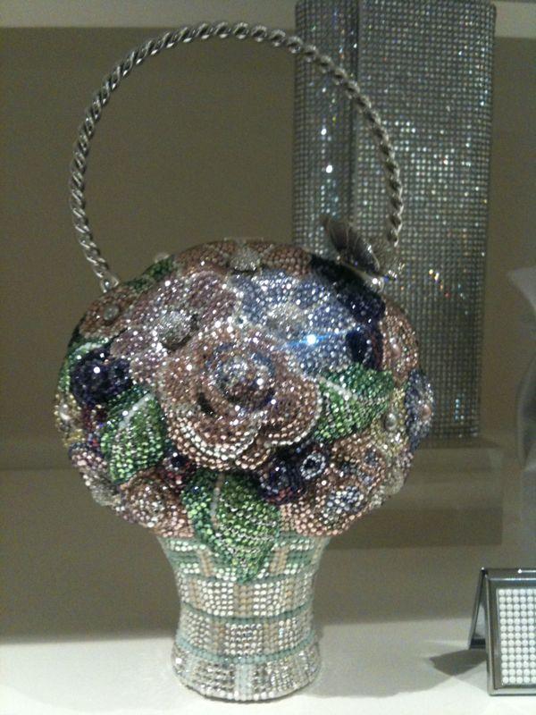 Flower Girl Basket-shaped Judith Leiber bridal clutch