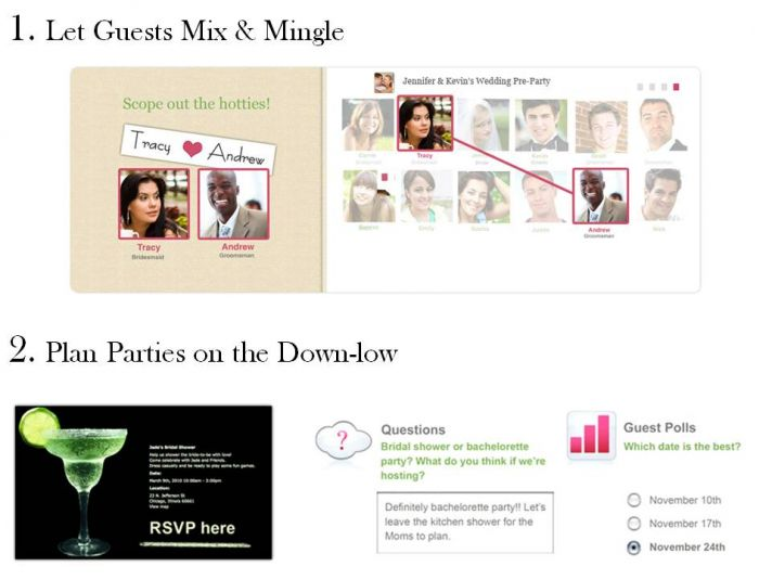 Wedding Pre-Party allows guests to mix and mingle before the wedding, and plan parties with ease