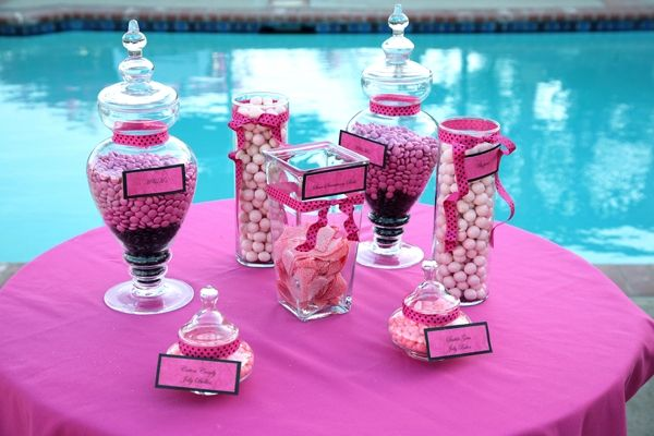 Black and white candy ideas