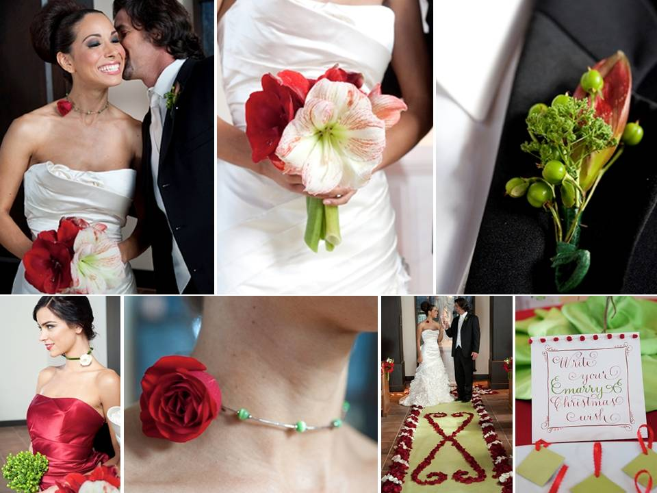 Credit A Very Merry Winter Wedding by Fifty Flowers