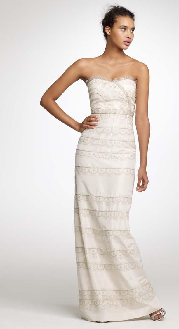 Understated elegance 2011 wedding dresses from j crew for J crew wedding dresses