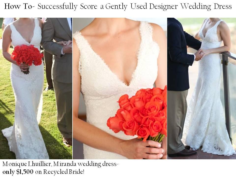 Gentlyused lace Monique Lhuillier wedding dress for 1500