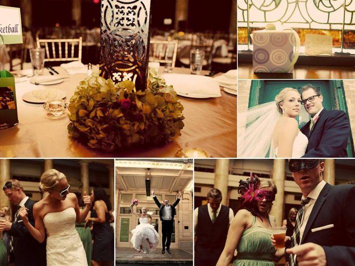 Enchanted garden wedding reception decor and reception fun on dance floor