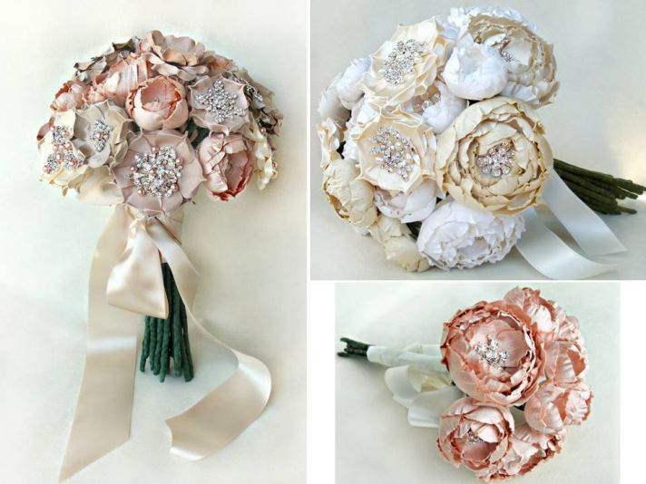 Handmade regal alternative bridal bouquets