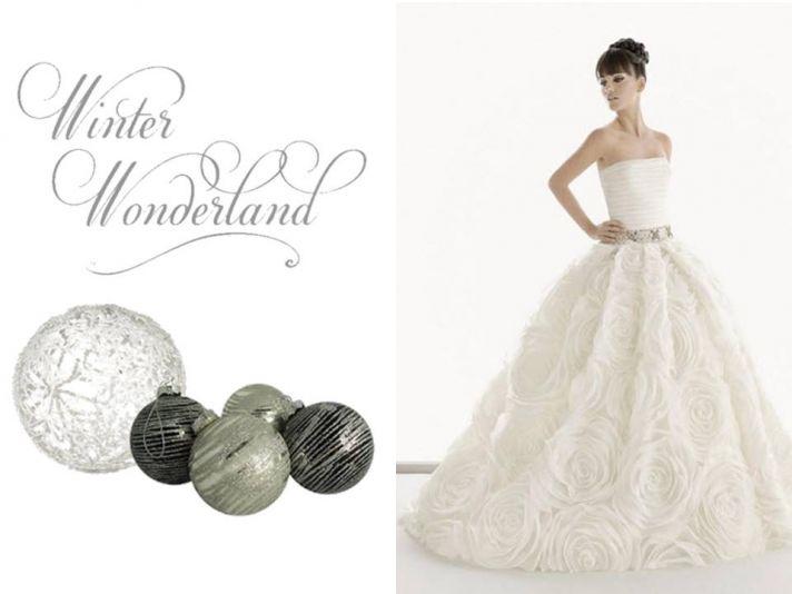 Choose a ballgown wedding dress for your winter wedding