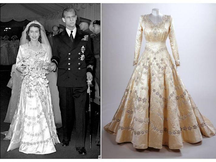 Queen Elizabeth's royal wedding gown