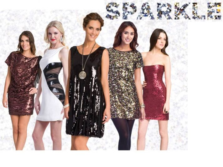 Sparkly holiday designer dresses from Rent the Runway