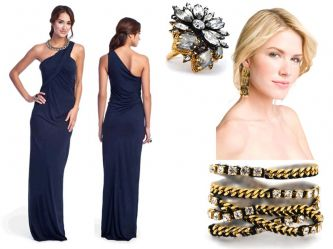 Navy Blue Dress on Royal  Navy  Midnight  Sapphire  Dark Blues Are On Trend For 2011