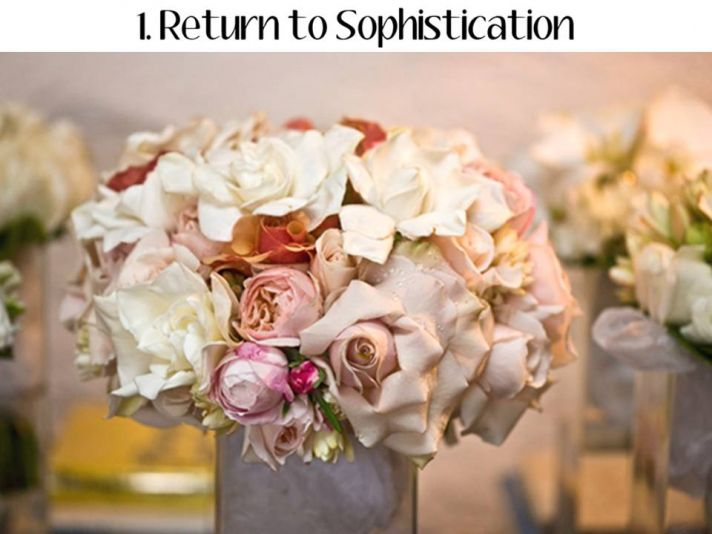 Couples will chose sophisticated, elegant wedding decor in 2011