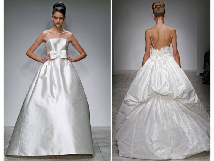 Sleek and shiny bridal updo from Amsale's Spring 2011 bridal runway show