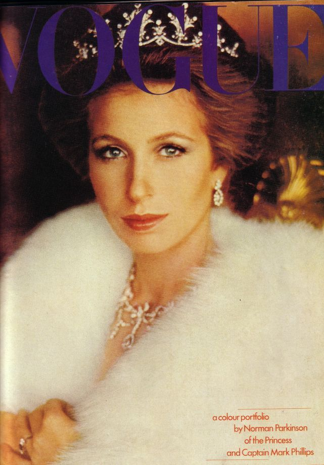Princess Anne photographed in diamond tiara on cover of Vogue