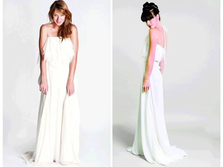 Casual eco-friendly wedding dresses, perfect for a beach wedding