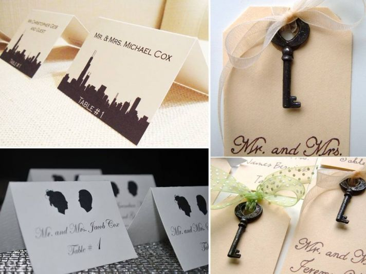 Classic and romantic custom-made reception escort cards