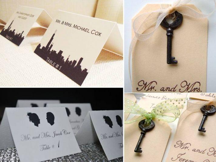 Classic and romantic custom-made reception escort cards
