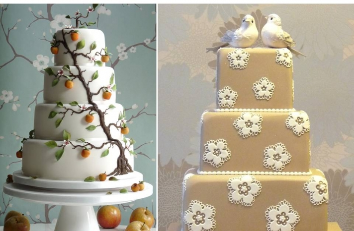 prince-william-royal-wedding-wedding-cake-nature-inspired-lace-cherry-blossoms