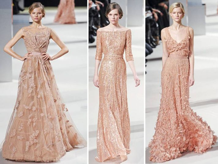 Nude and blush toned haute couture gowns from Elie Saab's Spring 2011 collection