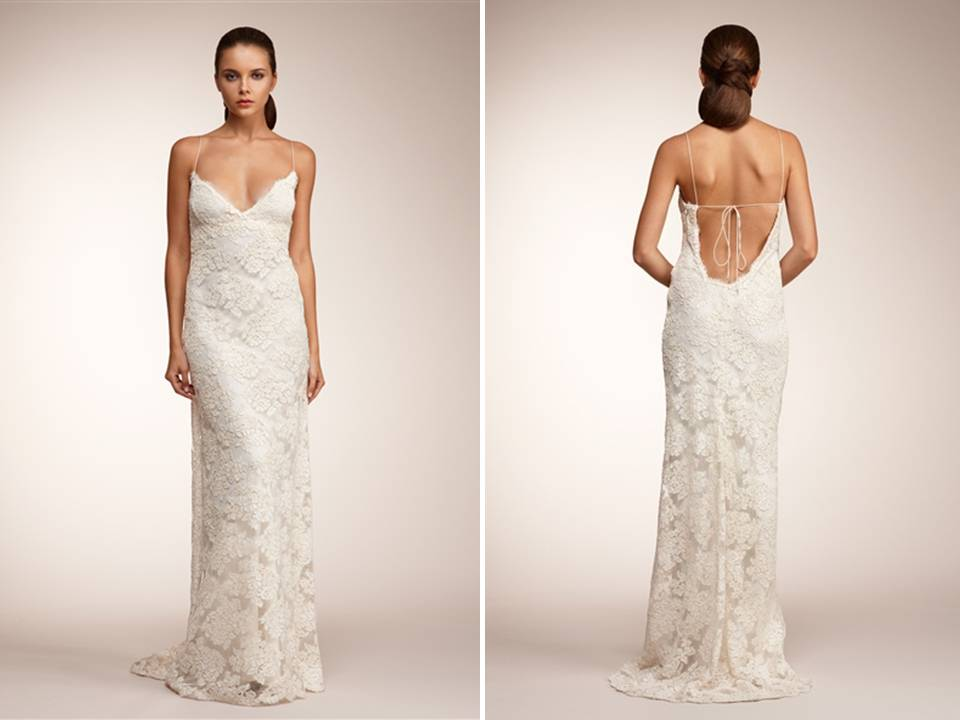 Silk Wedding Dresses With Lace Lace Open Back Wedding Dress