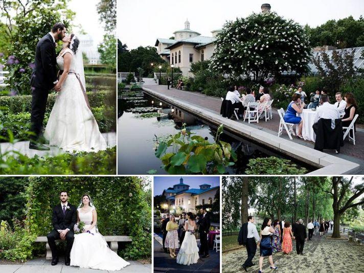 Outdoor garden wedding venue for New York brides- Brooklyn Botanic Gardens