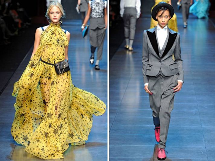 2011 Dolce & Gabbana RTW collection- star-studded a-line gown