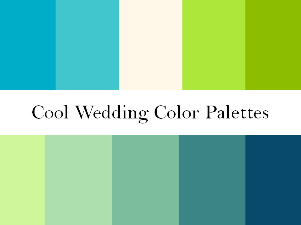 Cool Wedding Color Palettes Of Green Blue And Teal