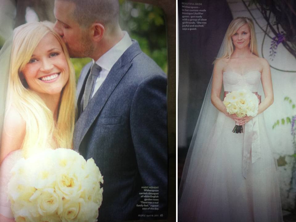 Credit Reese Witherspoon 39s Wedding Photos via People
