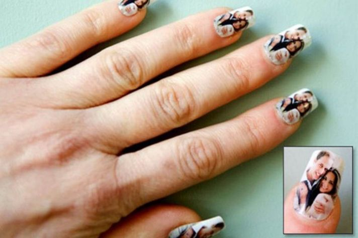 Prince William and Kate fingernail decals