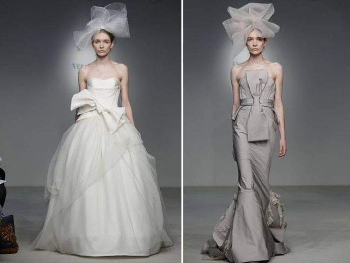 Dramatic ivory ballgown wedding dress from Vera Wang's 2012 collection