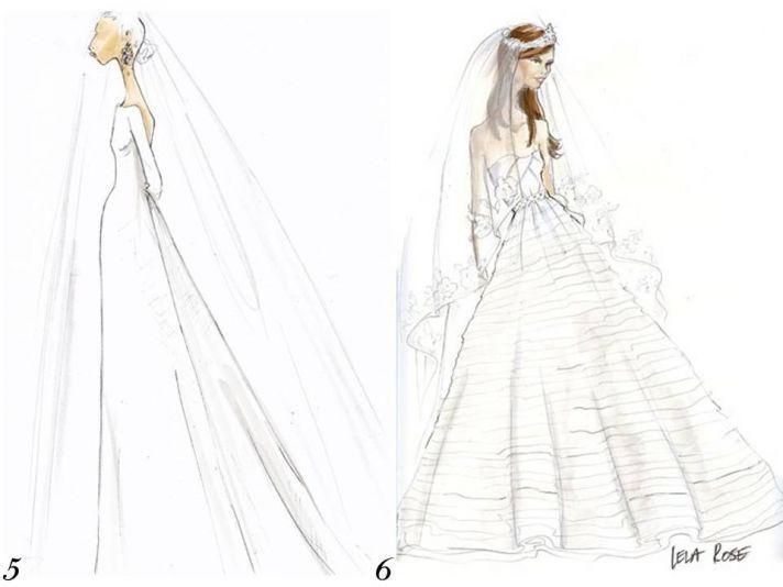 J.Crew and Lela Rose sketch Kate Middleton's royal wedding dress