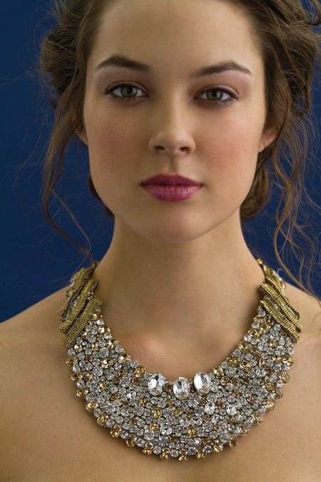 Gorgeous rhinestone and crystal statement bib necklace for your wedding