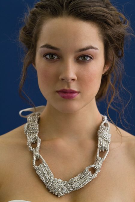 Chunky statement bridal necklace with chain link detail