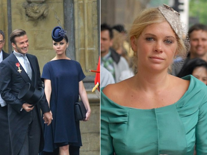 Victoria Beckham and Chelsea Davy wear chic hats and fascinators to royal wedding