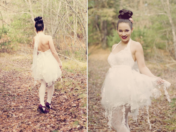 Enchanted Forest whimsical wedding dress by Angels Bridal Boutique