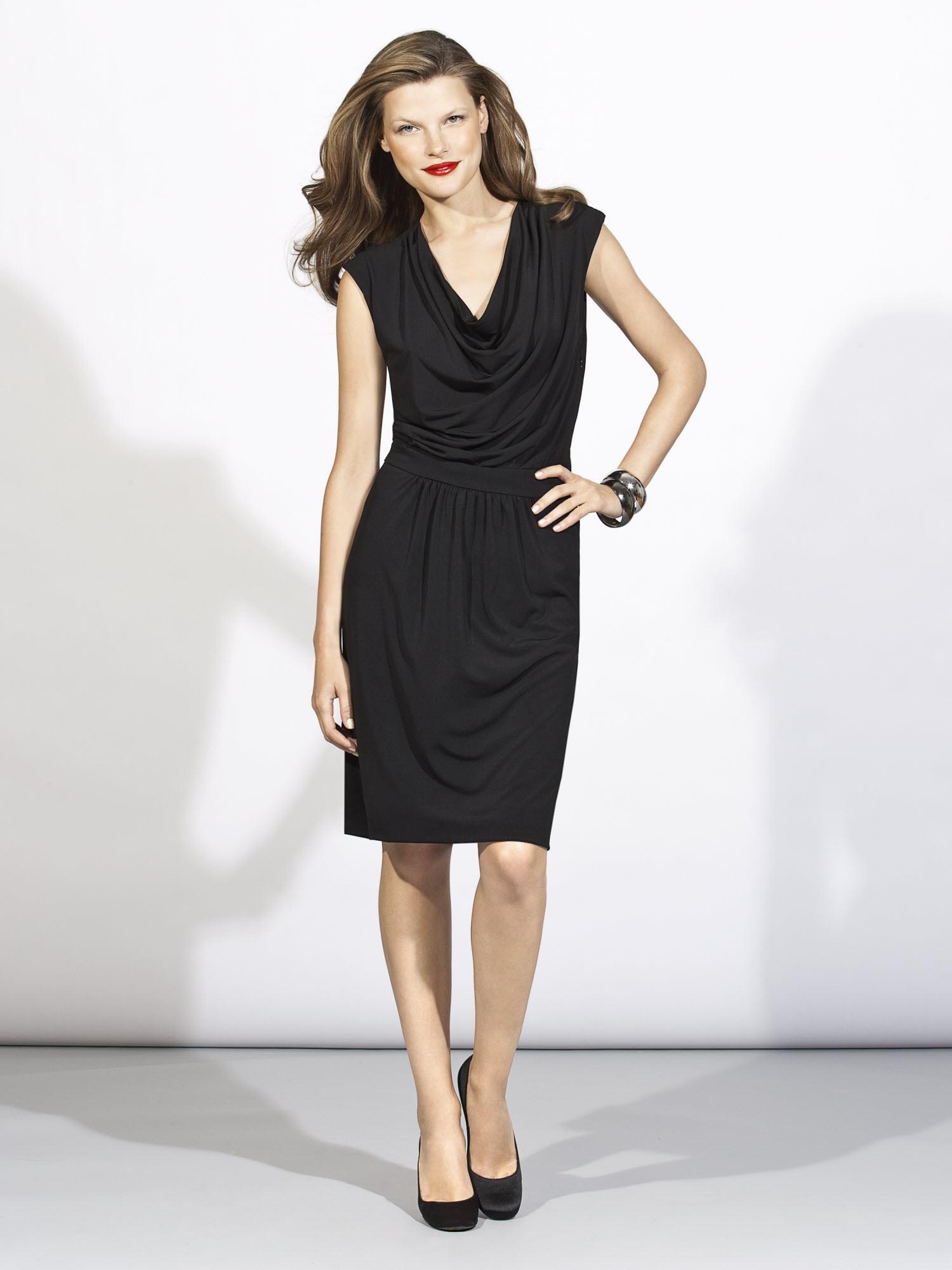 Black V Neck Dress   Dress images