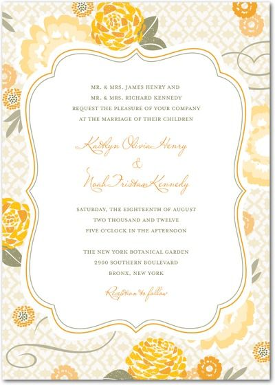 Citrus wedding inspiration Spring wedding invitations from Wedding Paper