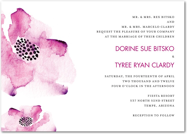 Credit Chic wedding invitations and stationery for your Spring I Dos