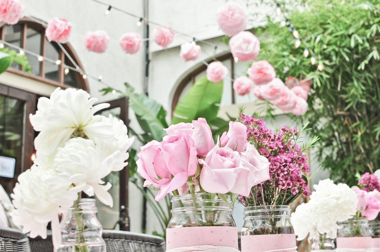 light pink bridal shower ideas rose que du dcoration forum mariages