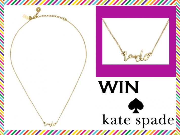 WIN Kate Spade Jewelry: The 'I Do' Bridal Necklace