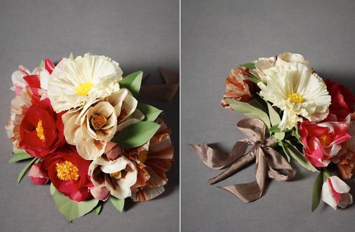 paper-poppy-bridal-bouquet-spring-wedding-flowers-romantic-non-fresh-wedding-flowers-bhldn-spring-weddings