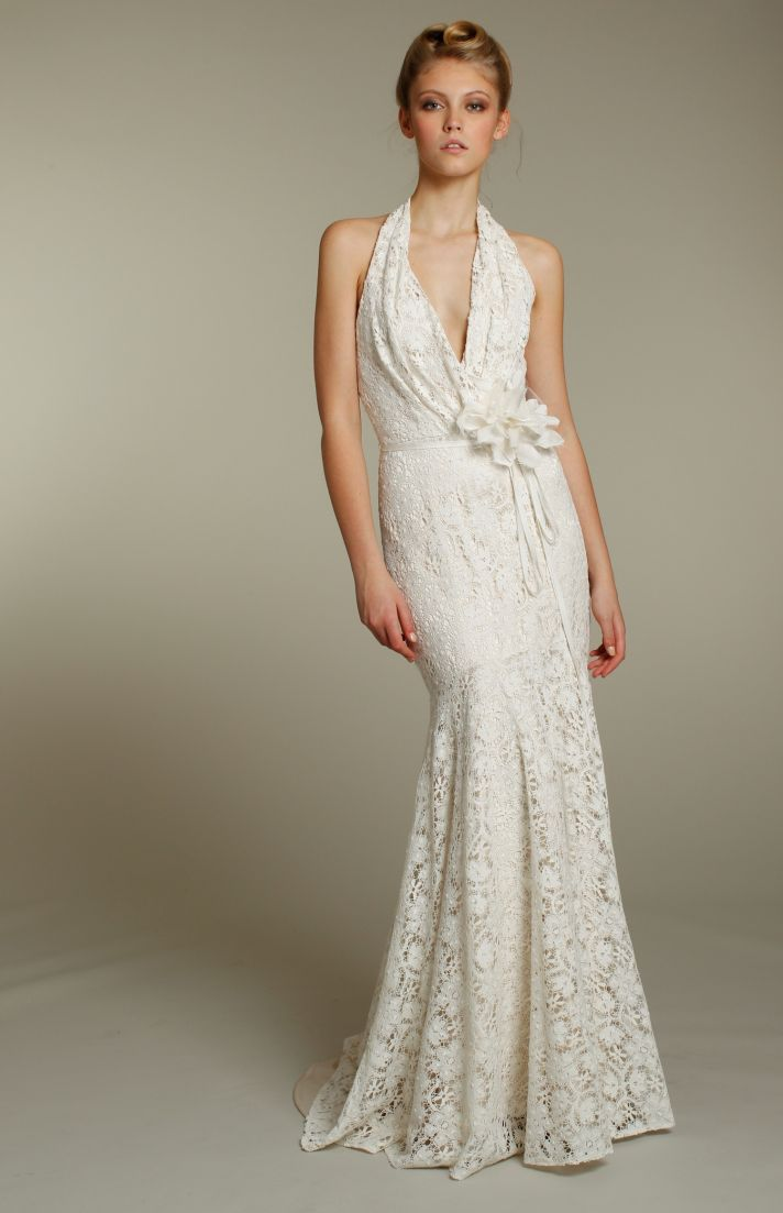 Romantic fall 2011 wedding dresses by blush onewed for Halter mermaid wedding dress