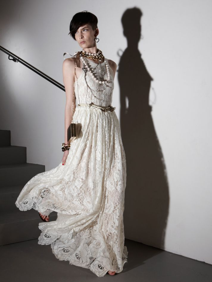 Boho bridal style by Lanvin