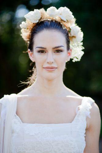 Vintageinspired tea length wedding dress
