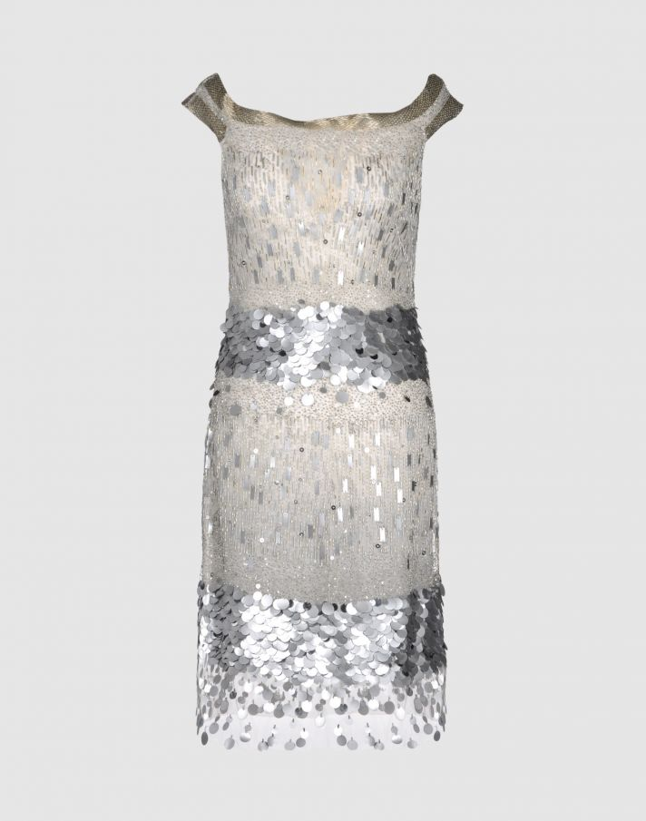 Beaded Valentino vintage dress for wedding reception