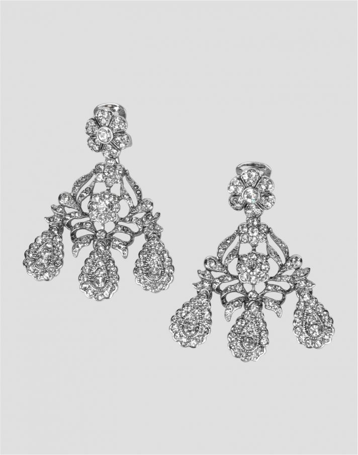 Kenneth Jay Lane vintage chandelier bridal earrings