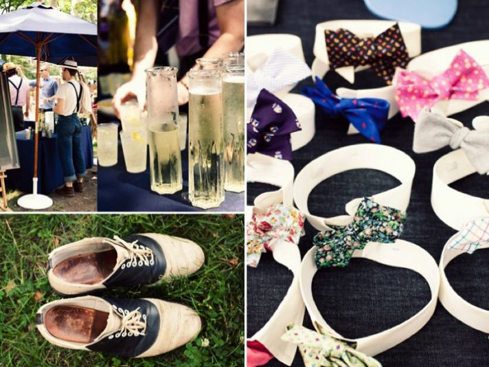 Roaring '20s wedding theme with signature cocktails and dapper grooms wear