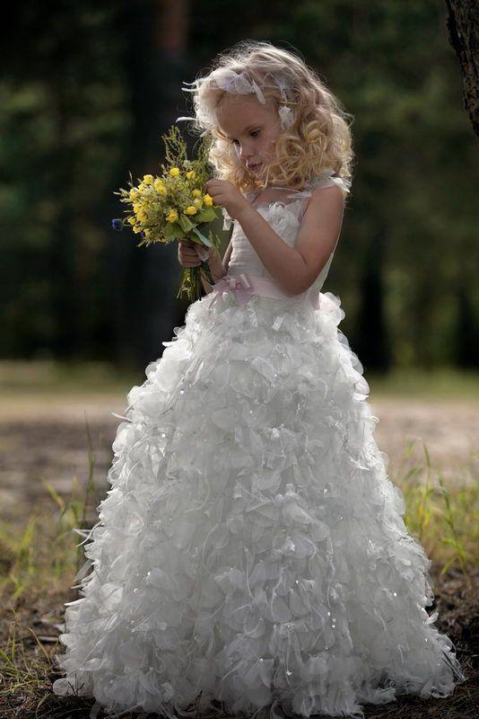 Fairytale-inspired flower girl dress
