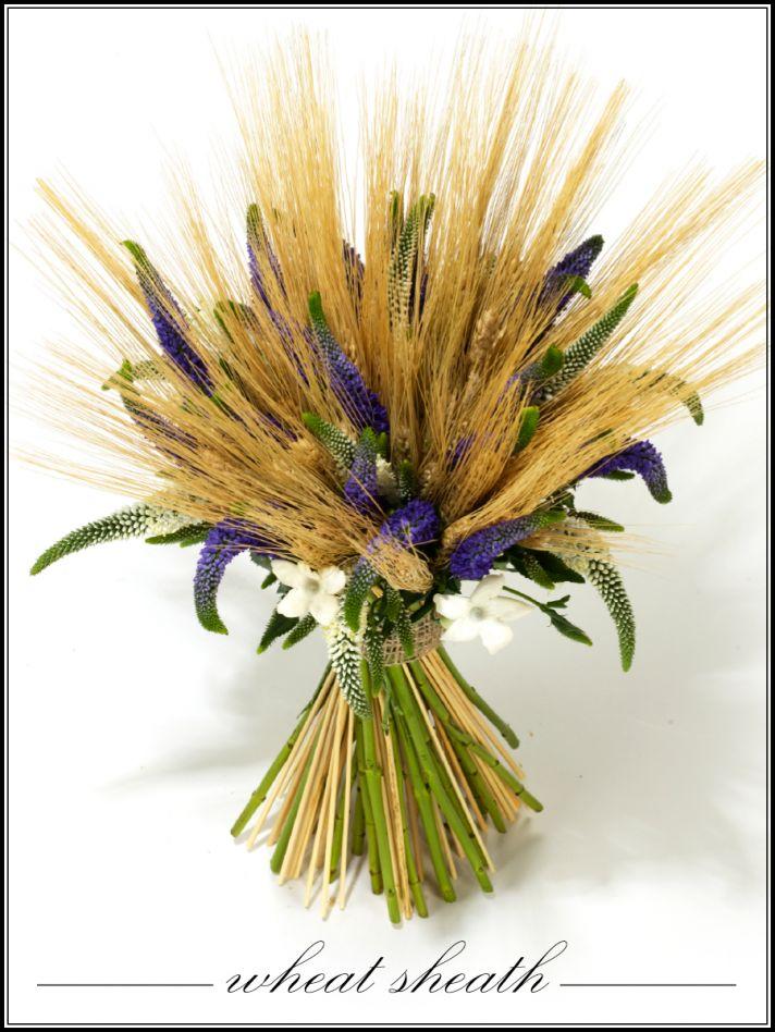Rustic wedding flower arrangement