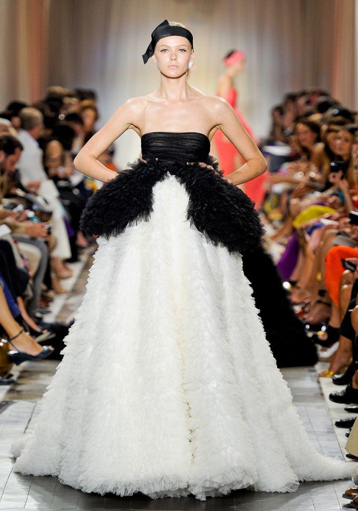 Black Swan-inspired wedding dress