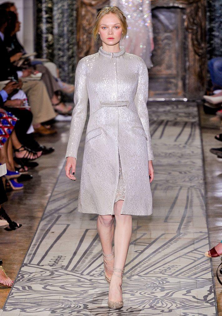 Jacquard wedding coat